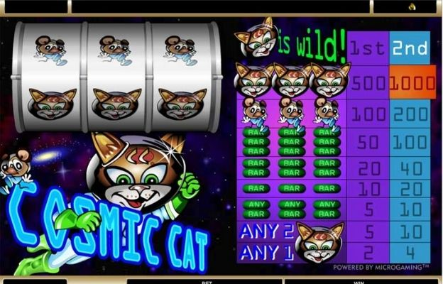 sci-fi casino slots cosmic cat